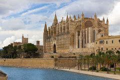 Cathedral of Santa Maria of Palma de Mallorca Royalty Free Stock Photos