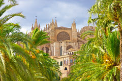 Cathedral of Santa Maria of Palma de Mallorca Royalty Free Stock Photo