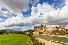 The Cathedral of Santa Maria of Palma de Mallorca, La Seu Stock Images