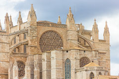 The Cathedral of Santa Maria of Palma de Mallorca, La Seu Stock Photography