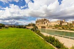 Cathedral of Santa Maria of Palma de Mallorca, La Seu, Spain Stock Photos