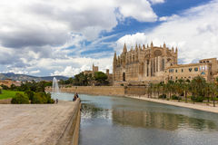 Cathedral of Santa Maria of Palma de Mallorca, La Seu, Spain Royalty Free Stock Image