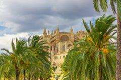 Cathedral of Santa Maria of Palma de Mallorca, La Seu, Spain Stock Photo