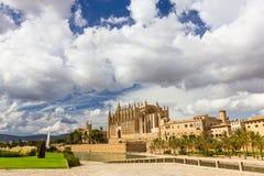 Cathedral of Santa Maria of Palma de Mallorca, La Seu, Spain Stock Images