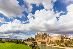 Cathedral of Santa Maria of Palma de Mallorca, La Seu, Spain. The Cathedral of Santa Maria of Palma de Mallorca, La Seu, Spain Stock Images