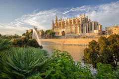 Cathedral of Santa Maria of Palma de Mallorca, La Seu, Spain. The Cathedral of Santa Maria of Palma de Mallorca, La Seu, Spain Stock Photo
