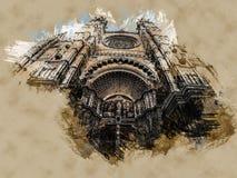 The Cathedral of Santa Maria of Palma de Mallorca, La Seu, Spain Stock Image
