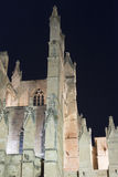The Cathedral of Santa Maria, Palma de Mallorca at night Stock Photography