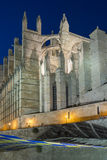 The Cathedral of Santa Maria, Palma de Mallorca at night Royalty Free Stock Images