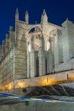 The Cathedral of Santa Maria, Palma de Mallorca at night Royalty Free Stock Images