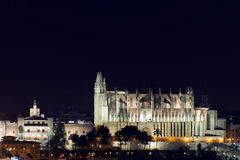 The Cathedral of Santa Maria, Palma de Mallorca at night Stock Image