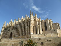 The Cathedral of Santa Maria of Palma. Gothic Roman Catholic cathedral located in Palma, Majorca, Spain. It has 121 metres long, 55 metres wide and its nave is Royalty Free Stock Photos