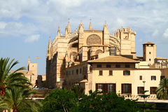 Cathedral of Santa Maria of Palma, Mallorca. Cathedral of Santa Maria of Palma, more commonly referred to as La Seu, is a Gothic Roman Catholic cathedral located Royalty Free Stock Images