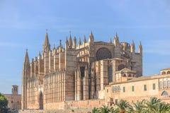 Cathedral of Santa Maria of Palma and Parc del Mar Stock Photos