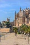 Cathedral of Santa Maria of Palma and Parc del Mar Stock Photo