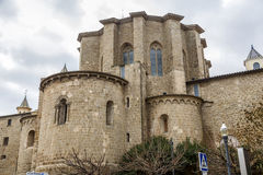 Cathedral of Santa Maria in Solsona, Spain Royalty Free Stock Photography
