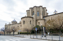 Cathedral of Santa Maria in Solsona, Spain Royalty Free Stock Images