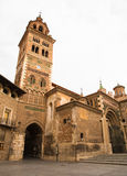 Cathedral of Santa Maria at Teruel. The cathedral of Santa Maria de Mediavilla at Teruel, Aaragon, Spain is one of the rare constructions in Mudejar style, it's stock image