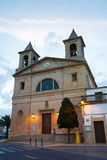 Cathedral in Santanyi, Mallorca. View of Cathedral in Santanyi at the evening time Stock Photography