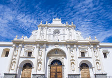 The cathedral of Santiago in Antigua Stock Photos