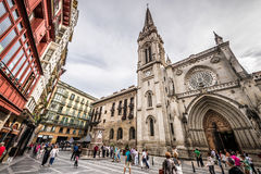 Cathedral of Santiago, Bilbao Stock Photography