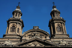 Cathedral of santiago de chile Royalty Free Stock Photos