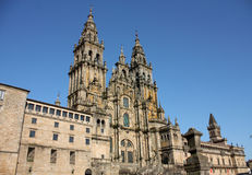 Cathedral of Santiago de Compostela Stock Images