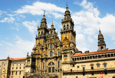 Cathedral of Santiago de Compostela. In Spain Royalty Free Stock Images