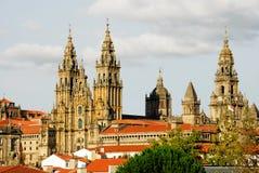 Cathedral of Santiago de Compostela. A Coruña, Spain Stock Image