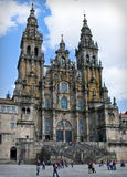 Cathedral of Santiago de Compostela. Santiago de Compostela, Spain - April 3, 2011: The cathedral of Santiago de Compostela is one of the major religious sites Royalty Free Stock Images
