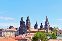 The cathedral of santiago de compostela Stock Image