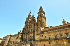 The cathedral of santiago de compostela stock photo
