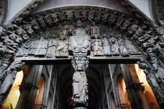 Cathedral in Santiago de Compostela stock image