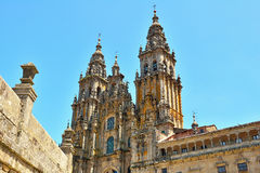 The cathedral of santiago de compostela. galicia s Stock Image