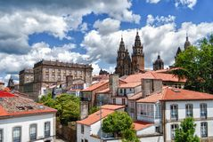 Cathedral of Santiago de Compostela. Galicia, Spain. The Cathedral of Santiago de Compostela is one of the greatest pilgrimage destinations for the Catholic stock images