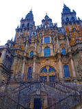 Cathedral in Santiago de Compostela in Spain Royalty Free Stock Photos