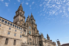 Cathedral of Santiago de Compostela in Spain Stock Images
