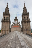 Cathedral of Santiago de Compostela in Spain Royalty Free Stock Photography