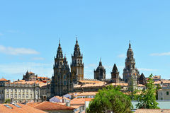The cathedral of santiago de compostela Royalty Free Stock Photo