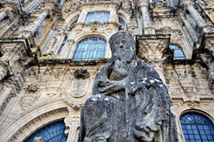 Cathedral of Santiago de Compostela, Spain Royalty Free Stock Images