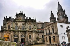 Cathedral in Santiago de Compostela, Spain Royalty Free Stock Photo