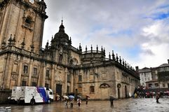 Cathedral in Santiago de Compostela, Spain Royalty Free Stock Photography