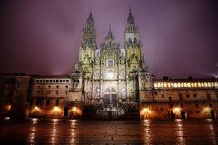 Cathedral in Santiago de Compostella stock photography