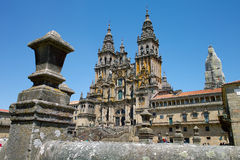 Cathedral in Santiago de Compostella. A shot of the cathedral in Santiago de Compostella, Spain Royalty Free Stock Image