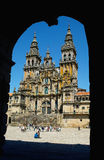 Cathedral in Santiago de Compostella. The central Cathedral in Santiago de Compostella Royalty Free Stock Photography