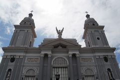 Cathedral in Santiago. View over the Cathedral in Santiago de Cuba Stock Images