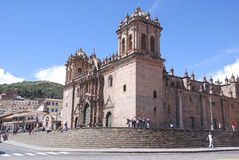 Cathedral of Santo Domingo. CUSCO PERU-NOV. 25: Cathedral of Santo Domingo, is the mother church of the Roman Catholic Archdiocese of Cusco. on Nov. 25 2008 in Royalty Free Stock Photography