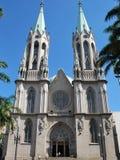 Cathedral sao paulo stock photo