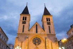 Cathedral in Sarajevo Stock Image