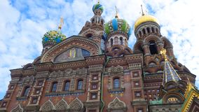 Cathedral of the Savior on the Blood stock image